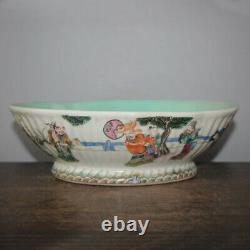 10 Good Chinese Famille Rose Porcelain The Eight Immortals Figure Stories Bowls