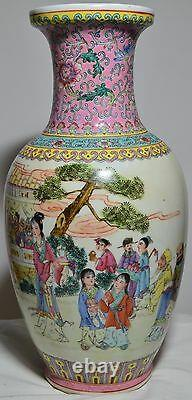14 Antique Old Chinese Asian Handmade Hand Painted Porcelain Vase! Rare