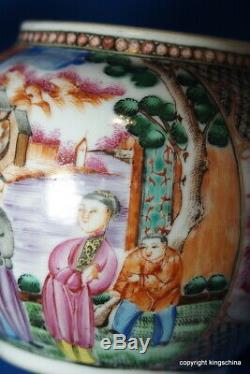 1750 Rare Chinese TEAPOT QIANLONG QING export mandarin FIGURES vase plate imari