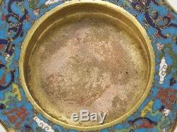 17th Century Chinese Cloisonné Enamel Lobed Bowl Lid