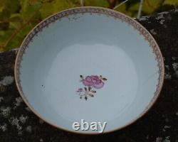 18th Century Chinese Rose Mandarin Large Bowl Qianlong period