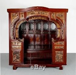 19th Century Chinese Canopy Wedding Bed Opium Bed Antique Contemporary Art