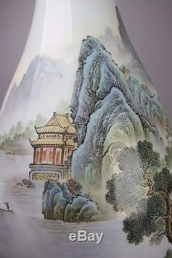 20th C. 50-60s Chinese JiangCai Porcelain Vase