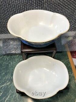 2 pcs chinese antique 19TH porcelain bowl