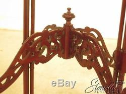 44176E Chinese Chippendale Pierced Carved Mahogany Occasional Table