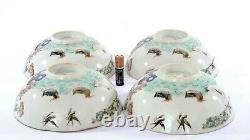 4 Old Chinese Famille Rose Porcelain Bowl Phoenix Nonya Nyonya Peranakan Strait