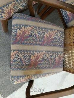 8 Vtg Mahogany UNIVERSAL FURNITURE Caned Asian Pagoda Chinoiserie Dining Chairs