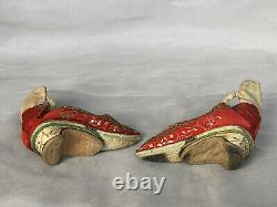 ANTIQUE Chinese Bound Feet Shoes ANTIQUE Lotus Shoes Qing Dynasty Embroidery
