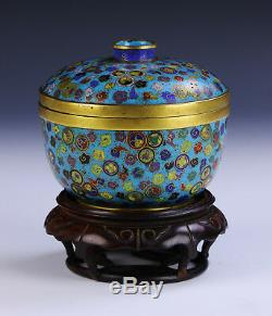 A Chinese Antique Cloisonne Lidded Bowl