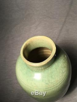 A Chinese Longquan Celadon Vase Ming Dynasty