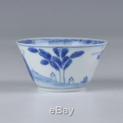 A Chinese Porcelain Blue And White 18th Century Yongzheng Period Cup And Saucer