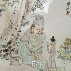 A Chinese Porcelain Plaque Qianjiang Gao Xintian