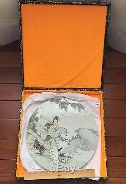 A Chinese Porcelain Plaque Qianjiang Qing Dynasty