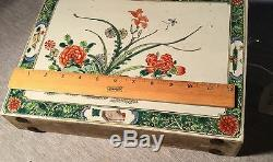 A Chinese Porcelain Tile with Paintings on Two Sides