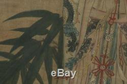 A Huge and Important Framed Chinese Qing Dynasty Painting on Silk, Signed