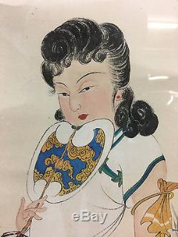 A Large and Important Chinese Watercolor Painting on Paper, Artist Signed