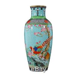 A Pair Of Fine Chinese Precious Porcelain Birds Vase Marked Yongzheng AB106