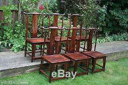 A Set of Six Antique Chinese Huanghuali Chairs, #20150019