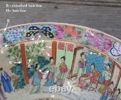 A very big antique Chinese Rose Mandarin Basin Handwasher Daoguang period
