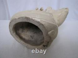 Antique 19th Century Chinese Porcelain Guanyin Riding Fish Statue. With Mark