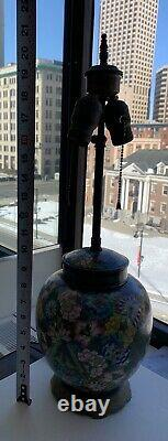 Antique Art Deco Chinese Cloisonne Lamp