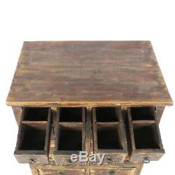 Antique Chinese Asian 18 Drawer Herb Medicine Apothecary Cabinet 27 Wide 34 T