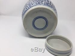 Antique Chinese Blue & White Porcelain Double Happiness Ginger Jar/vase Kangxi M