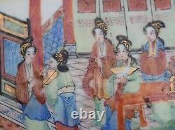 Antique Chinese Canton Mandarin Enamel Brush Box, Daoguang period