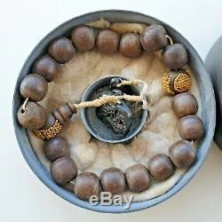Antique Chinese China Qing Agarwood Chenxiang Qinan Rosary Prayer Beads 1900