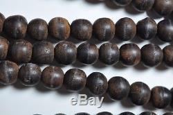Antique Chinese China Qing Agarwood Qinan Kynam Mala Necklace Prayer Beads 1900