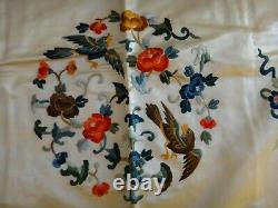 Antique Chinese Embroidered Silk Women's Robe. 1st half 20th cent