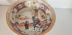 Antique Chinese Famille Rose Export Porcelain Cereal Bowl QIANLONG 18th C QING