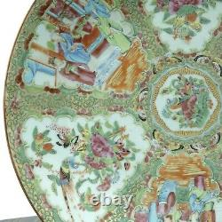 Antique Chinese Famille Rose Medallion Charger Plate