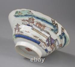Antique Chinese Famille Rose Porcelain Bowl Xianfeng mark 19th c, stand and box