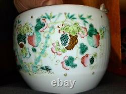 Antique Chinese Famille Rose Teapot Qing Republic
