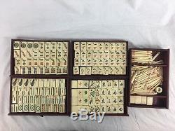 Antique Chinese Mah Jong Box Set, Complete