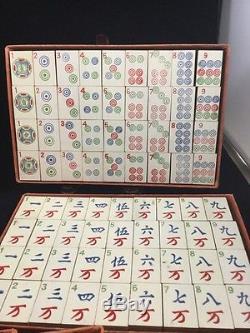 Antique Chinese Mahjong Set Milton Bradley 1923