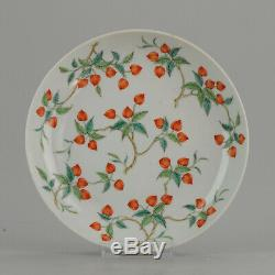 Antique Chinese Plate Qing Dynasty 19th Daoguang Porcelain Artist Marked