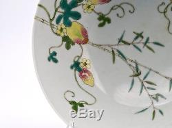 Antique Chinese Porcelain Famille-Rose Balsam Pear Decorated Jiaqing Seal Bowl