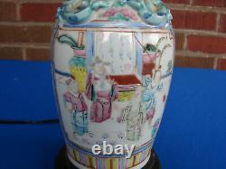 Antique Chinese Porcelain Famille Rose Verte Lamp