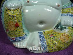 Antique Chinese famille rose porcelain Buddha
