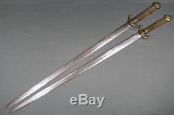 Antique Chinese shuang jian swords China, Qing dynasty
