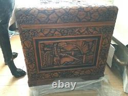 Antique Hand Carved Chinese Chest Camphor Lined Excellent Used Condition