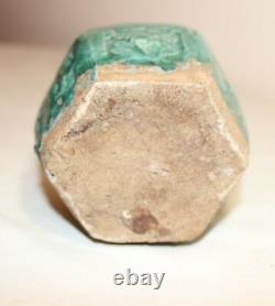 Antique handmade Chinese green glazed celadon pottery ginger drug opium jar vase