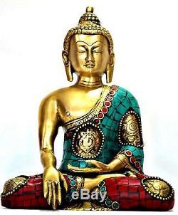 Buddha Statue Tibet Bronze Tibetan Old Buddhism Chinese Sakyamuni Carved Figurin