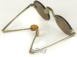 C1810 Chinese Sunglasses with Smoky Quartz Lenses