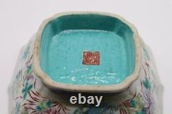 Chinese Antique Famille Rose Porcelain Stem Plate or Bowl of Dragonflies