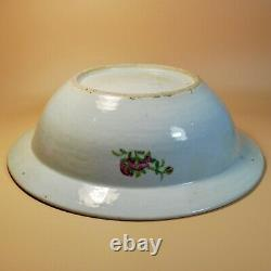 Chinese Antique Porcelain Basin Bowl Canton Famille Rose Medallion Mandarin 19C