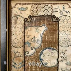Chinese Antique Qing Dynasty 19th Framed Embroidery