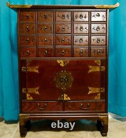 Chinese Asian Apothecary Beautiful 1900's antique Chinese apothecary cabinet